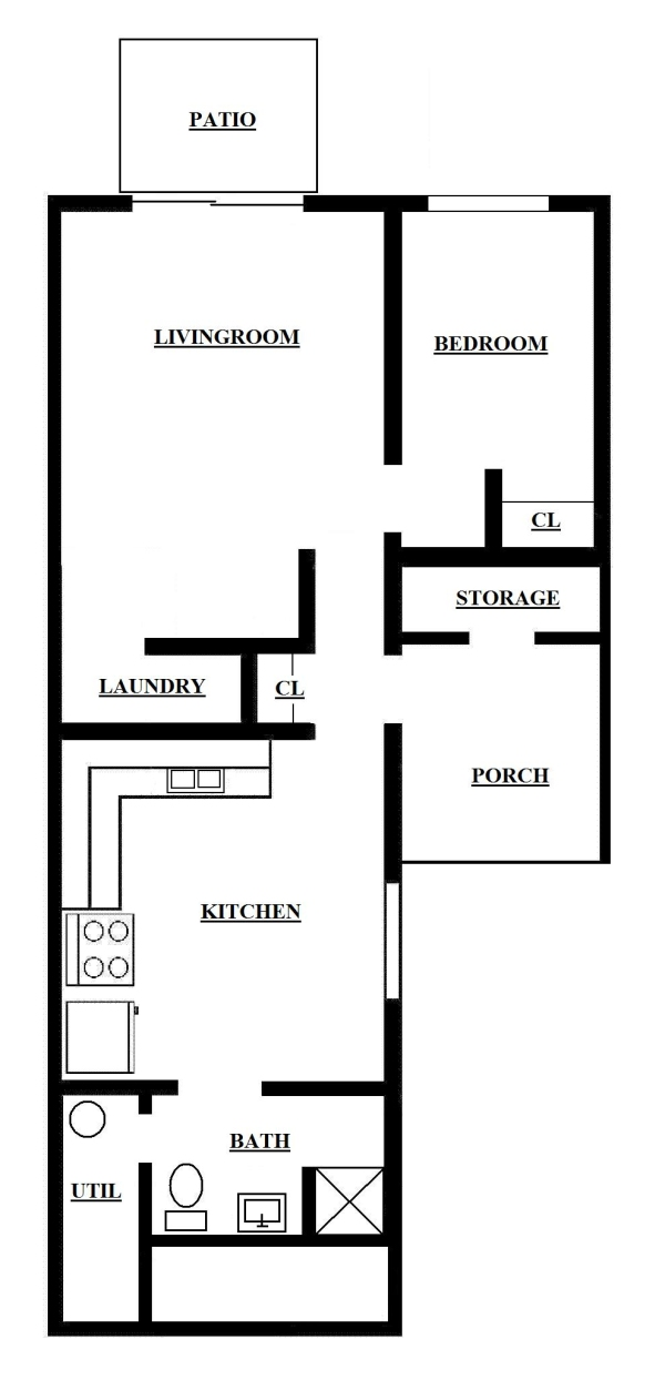Lower One Bedroom Apartment