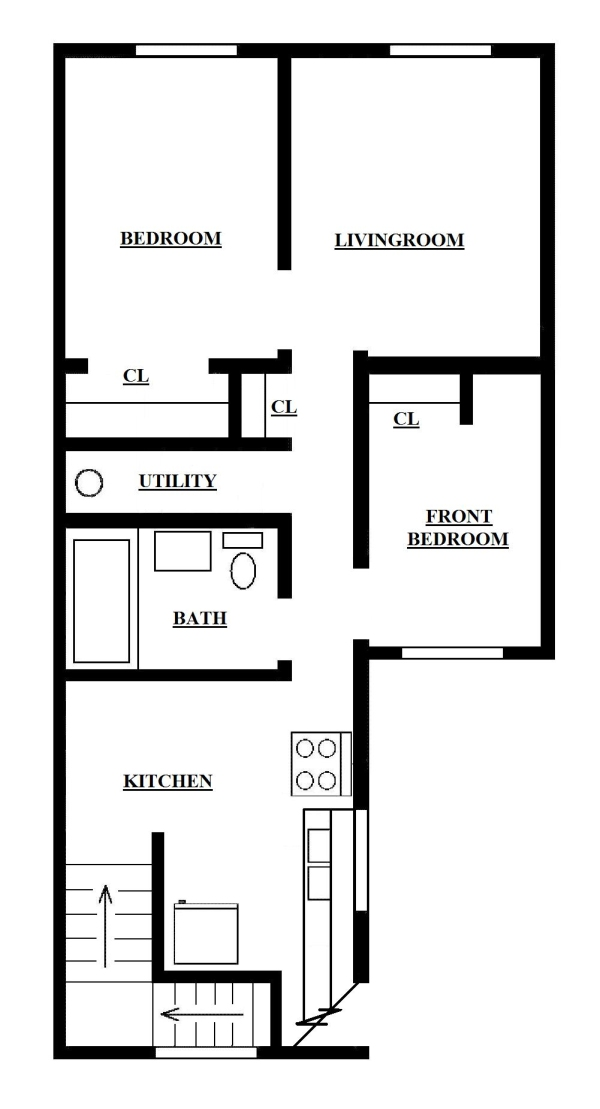 Two Bedroom Apartment Upper